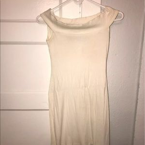 Reformation white off shoulder dress small